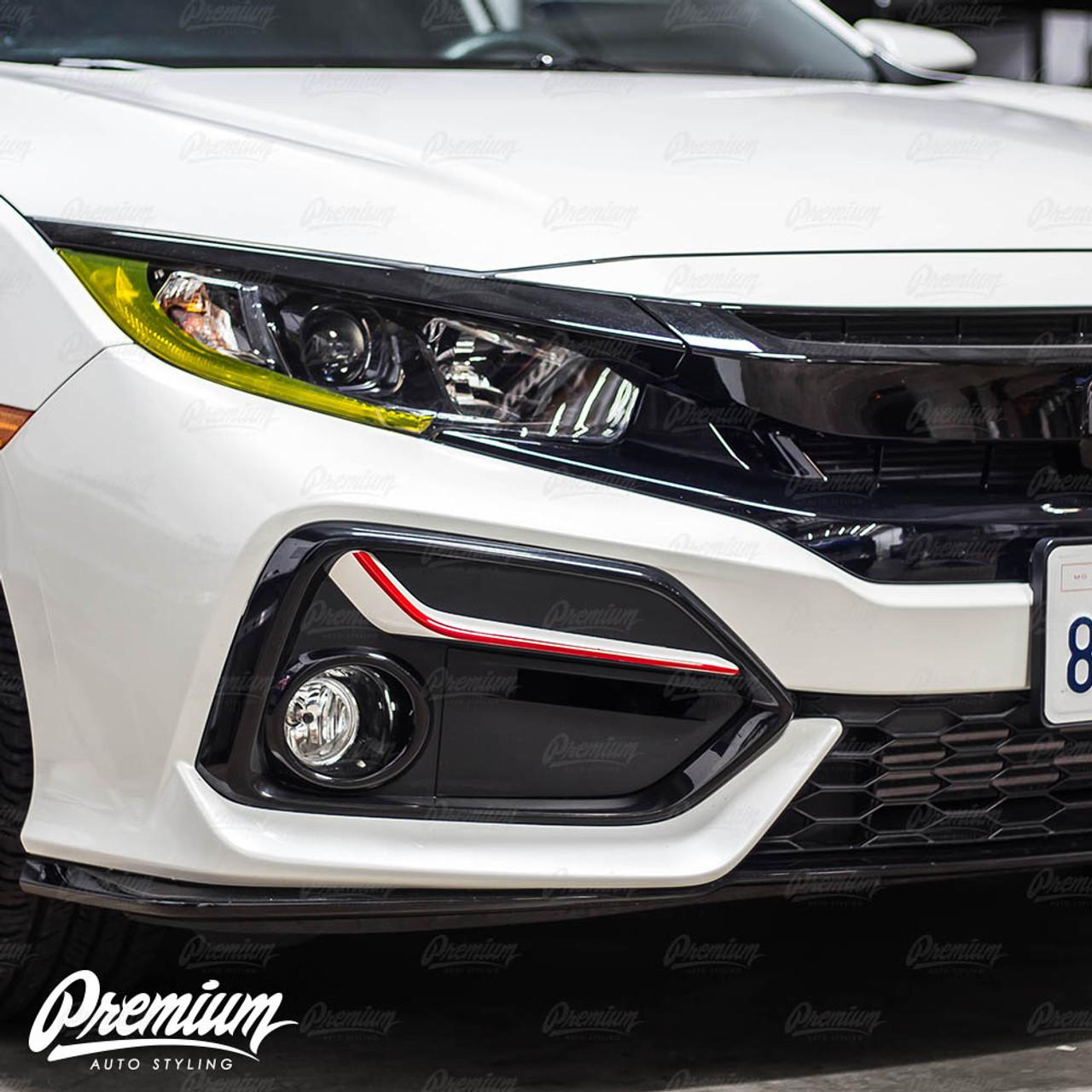 Front Bumper Fog Bezel Pinstripe Choose Your Color 2020 Honda Civic Sedan Si Coupe Si Hatch Type R Premium Auto Styling