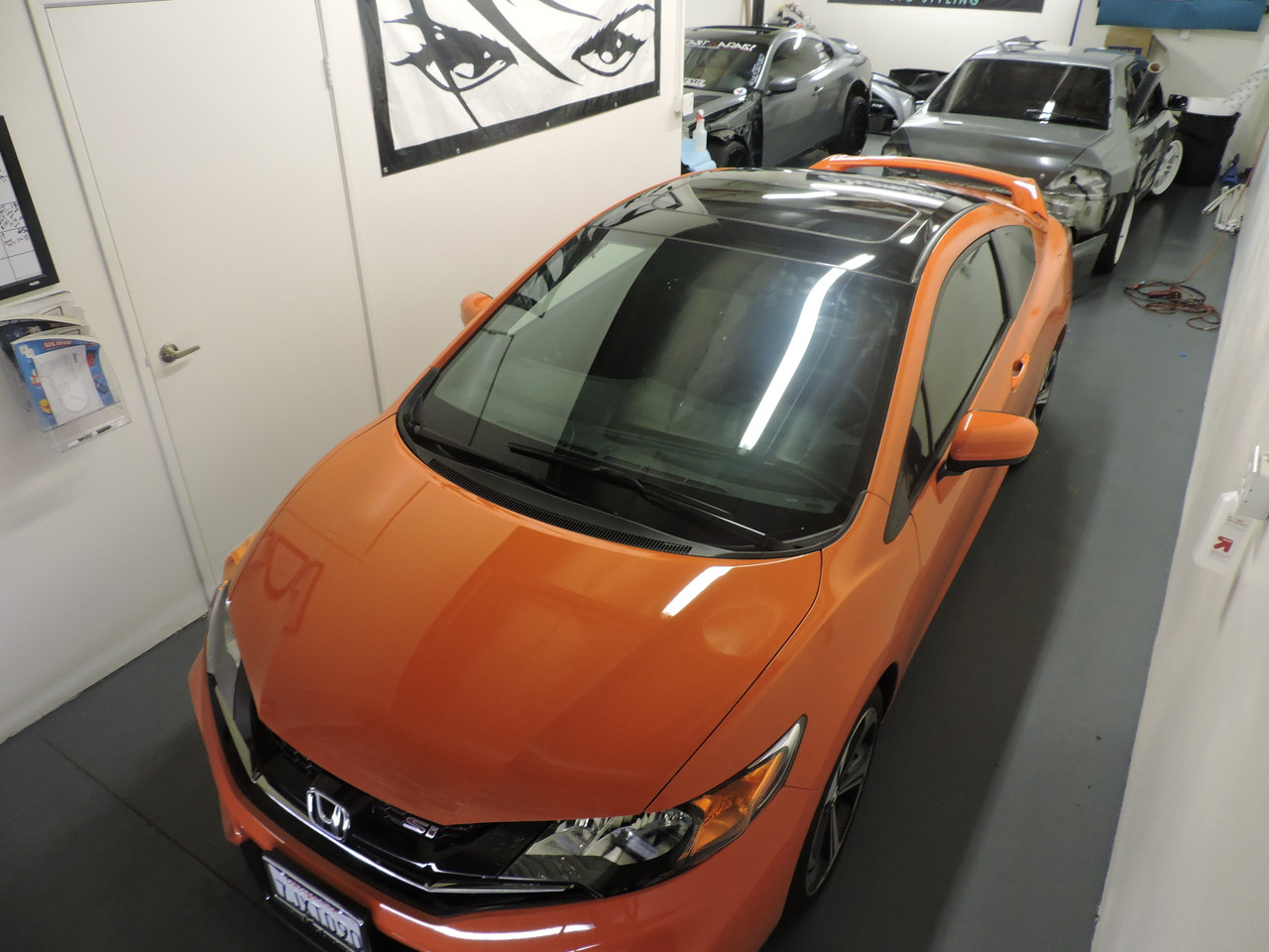 2015 Civic Coupe Vinyl Roof Wrap Kit