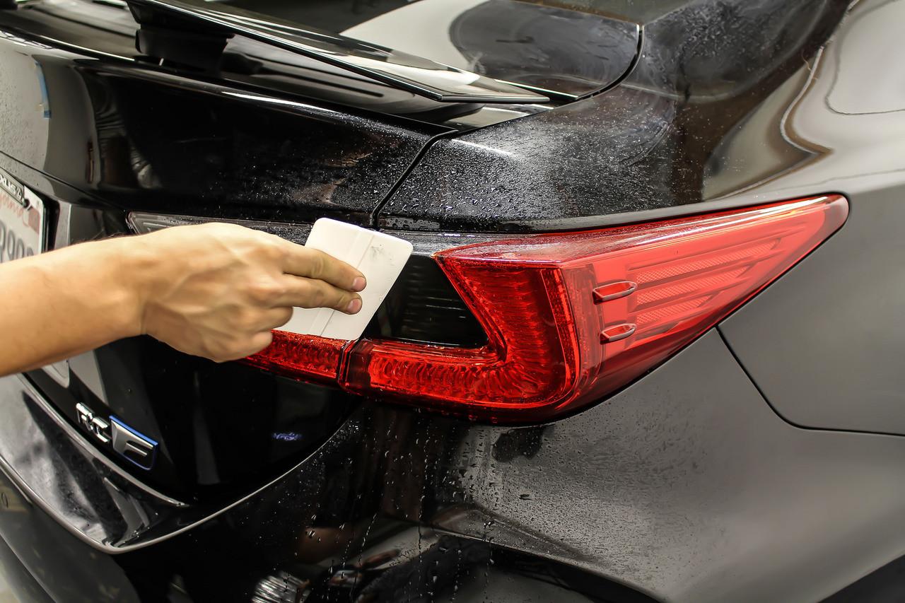 Lexus RC F Sport RC 300 350 BLK Carbon Fiber Trunk Emblem Decal Insert For 15