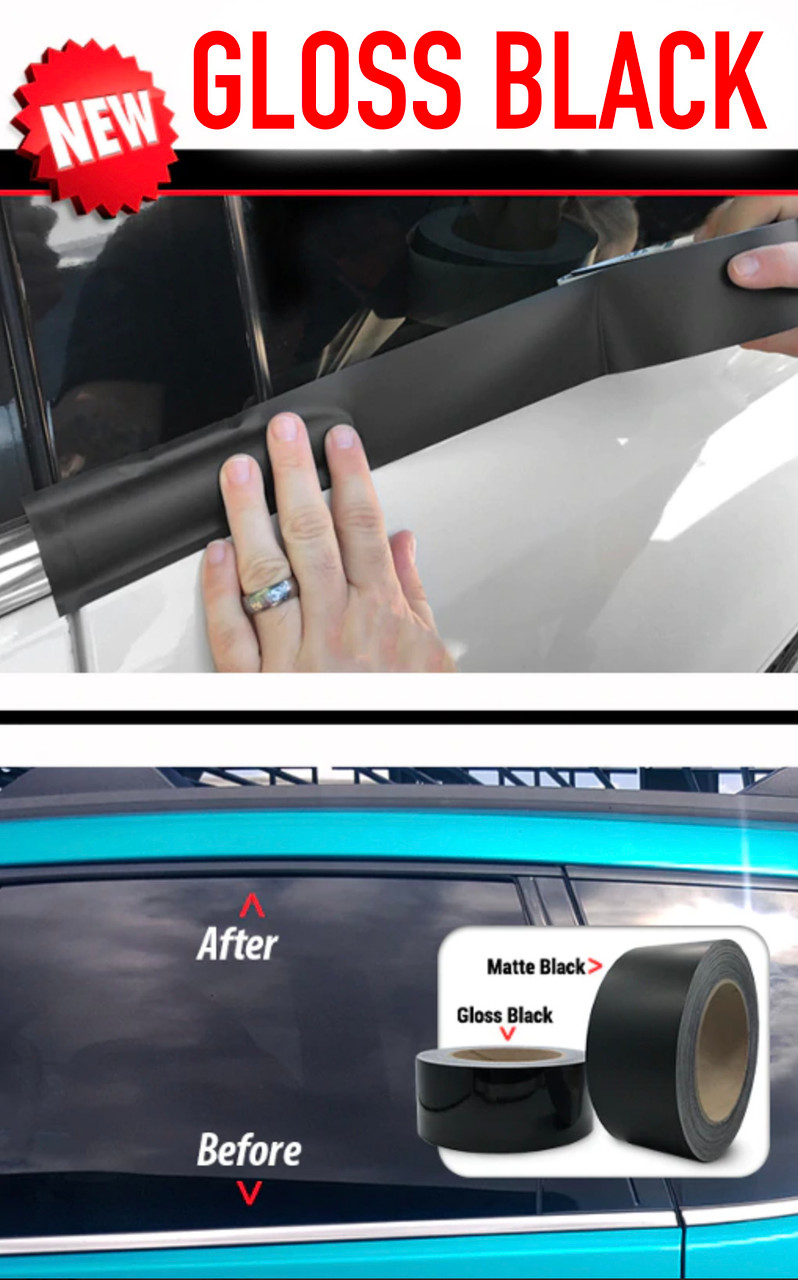 3m Trim Wrap Gloss Black Chrome Delete