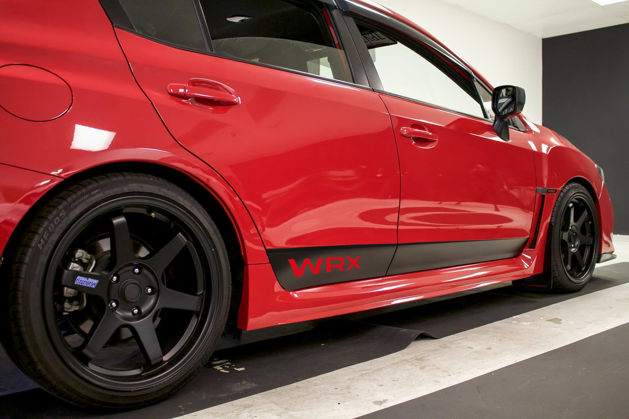 Rocker panel vinyl decal kit 2015 2019 subaru wrx sti