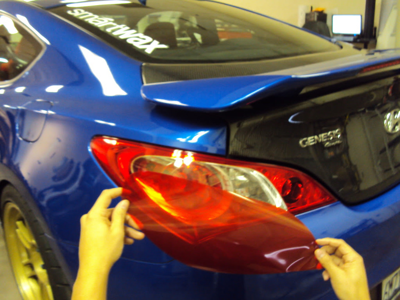 Fits: Hyundai Genesis Coupe Pre-Cut Vinyl Overlay Taillight Plus Tint Subject 9 Light 2009 2010 2011 2012 2013 2014 2015 2016