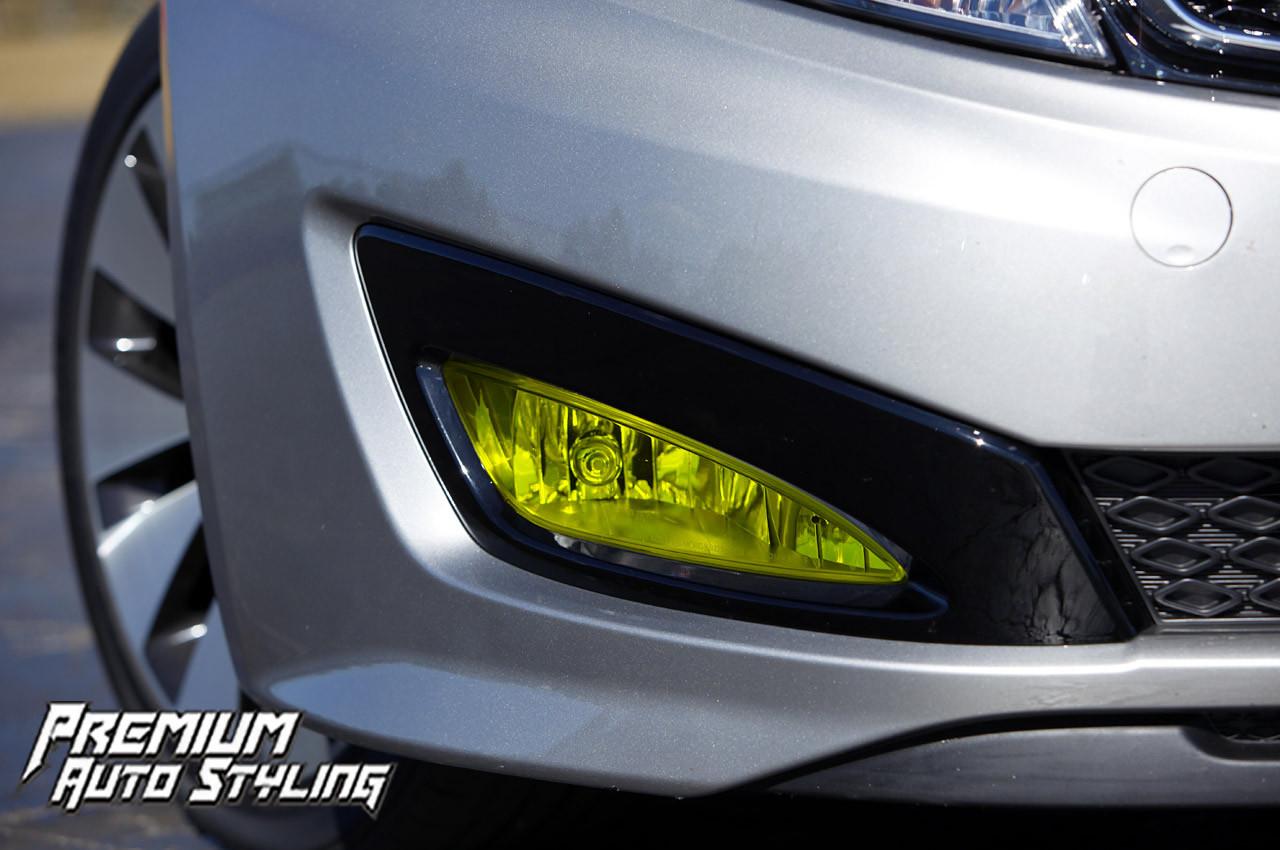 Kia Optima Yellow Fog Light Tint Overlays