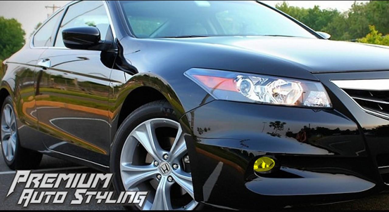2008 2012 Honda Accord Coupe Pre Cut Fog Light Vinyl Overlays Premium Auto Styling