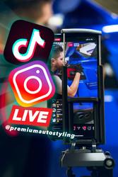 Instagram Live Stream Vinyl Overlay Installs