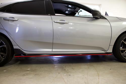 Side Skirt Pinstripe Kit (Choose Your Color) | 2016-2020 Honda Civic Hatchback