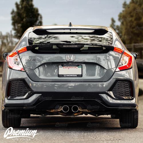 Rear Bumper Reflector Smoke Tint Overlay | 2016-2021 Honda Civic Hatchback