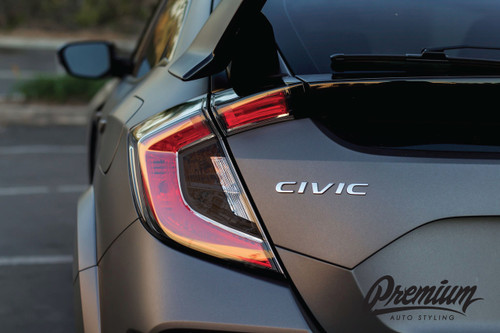 Tail Light Smoke Tint Insert Overlays | 2016-2019 Civic Hatchback