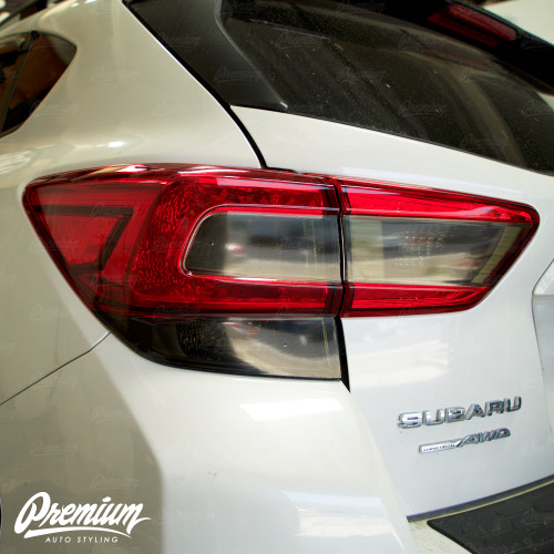 Tail Light Smoke Tint Overlay Kit (FULL STEALTH) V2 | 2018-2021 Subaru Crosstrek XV
