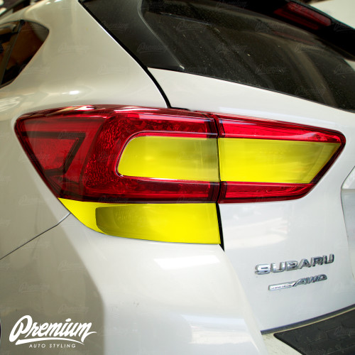 Tail Light Smoke Tint Overlay Kit (FULL STEALTH) V2 | 2018+ Subaru Crosstrek XV