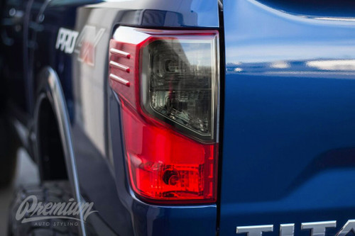 Smoked Tail Light Tint Overlays - Smoke tint | 2016-2019 Nissan Titan