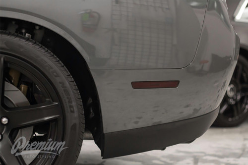 Rear Side Reflector Overlays - Smoke Tint   2015-2019 Dodge Challenger