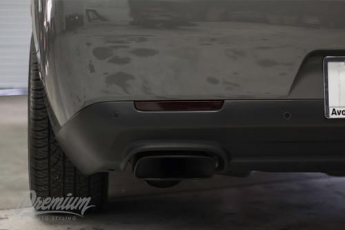 Rear Bumper Reflector Tint Overlays - Smoke Tint | 2015-2019 Dodge Challenger
