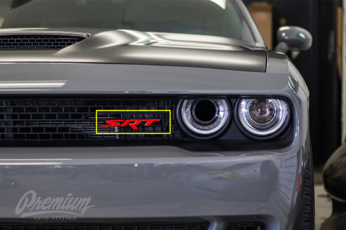 2015 - 2018 SRT Hellcat Badge Emblem Inlay Kit  (Front & Rear)
