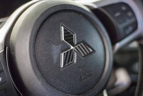 Mitsubishi Emblem Diamond Overlay Kit  (Front, Rear, Steering Wheel)