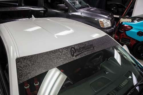 Shadow Black / Satin Black Windshield Banner ( Limited )