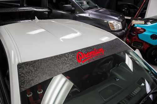 Shadow Black / Red Windshield Banner ( Limited )