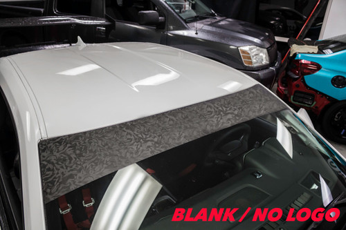 Shadow Black  Windshield Banner ( NO LOGO )