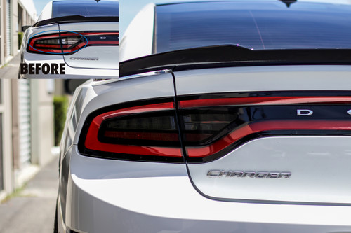 Smoked Tail Light Overlays - Smoke Tint | 2015-2018  Dodge Charger