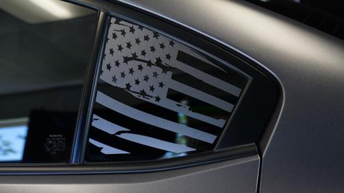 Distressed Flag Quarter Window Decal | 2015-2020 Subaru WRX / STI