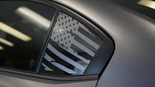Distressed Flag Quarter Window Decal | 2015-2020 Subaru WRX / STI