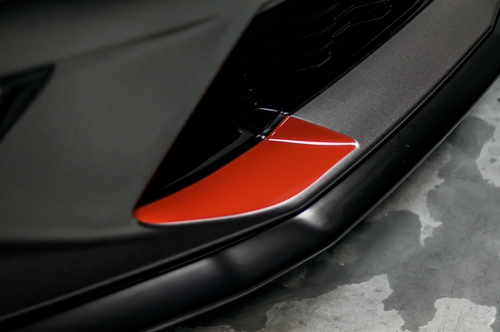 Front Bumper Bumper Fang Accent Vinyl Overlay - Gloss Red Wrap | 2016-2018 Chevy Camaro
