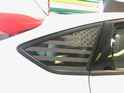 American Flag Quarter Window Decal (2015-2018 Focus ST)