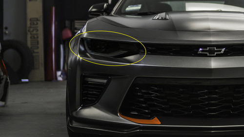 Smoked Head Light Overlays (2016 - 2018 Chevy Camaro)