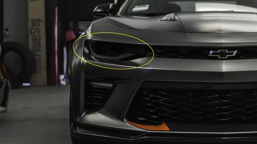 Smoked Head Light Overlays (2016 - 2018 Chevy Camaro)