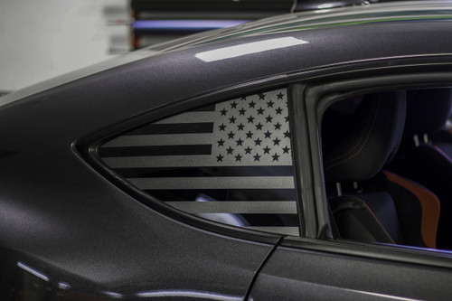 American Flag Quarter Window Decal (2013-2020 BRZ, FRS & 86)