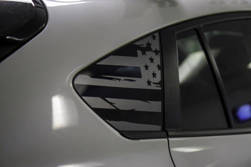 Distressed Flag Quarter Window Decal (2018+ Crosstrek)