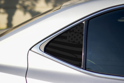 Distressed Flag Quarter Window Decal (2014-2018 Lexus IS)