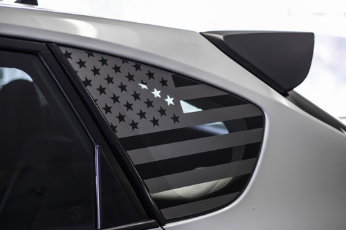 American Flag Quarter Window Decal (2008 - 2014 IMPREZA WRX / STI HATCHBACK)