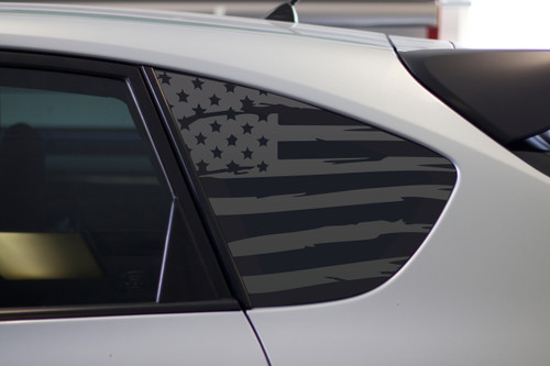 Satin Grey Distressed Subaru Flag