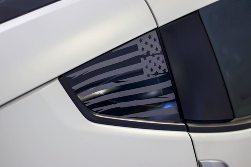 Distressed Flag Quarter Window Decal (2009 - 2018 Nissan 370z)