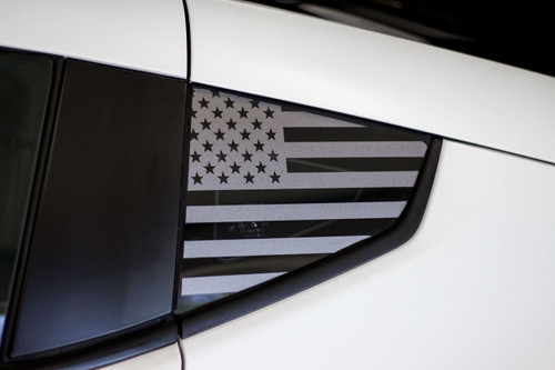 American Flag Quarter Window Decal (2009 - 2018 Nissan 370z)