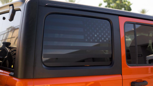 American Flag Quarter Window Decal Set | 2011-2018 Jeep JL 4-Door Only