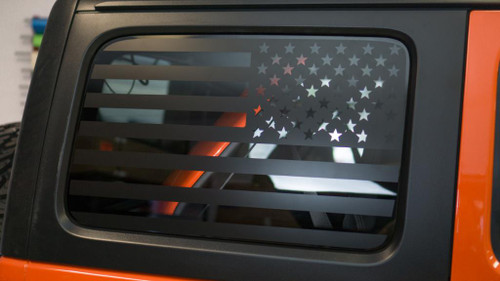 American Flag Quarter Window Decal Set | 2018 Jeep JL