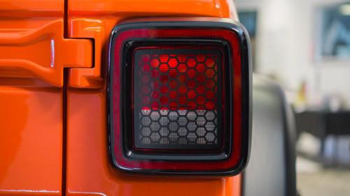 Honeycomb Tail Light Overlays | 2018 Jeep JL