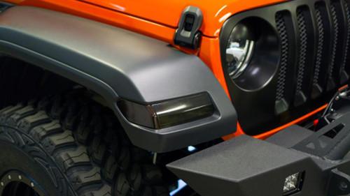 Front Reflectors and Turn Signal Smoke Tint Overlay | 2018 Jeep JL