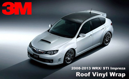 2008 - 2014 Subaru WRX Hatchback Vinyl Roof Wrap Kit (GLOSSY, SATIN, CARBON)