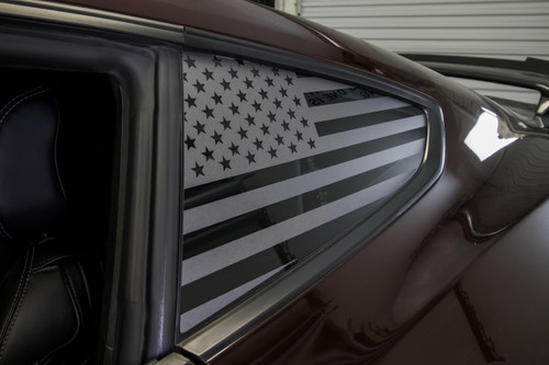 American Flag Quarter Window Decal Set (2015-2020 Mustang)