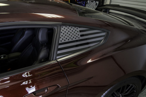 American Flag Quarter Window Decal Set (2015-2018 Mustang)