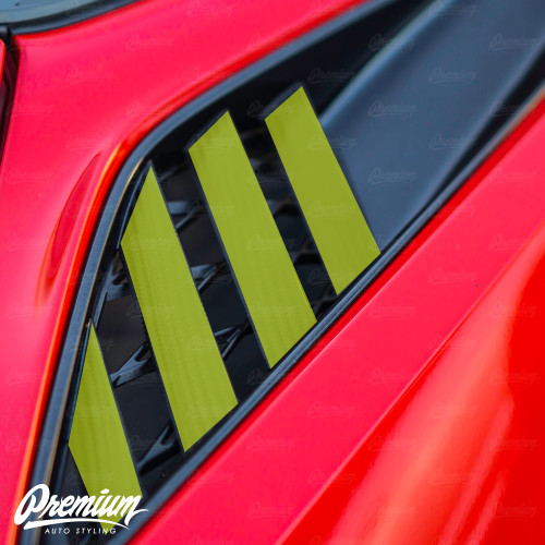 Rear Quarter Panel Vent Vinyl Overlays (2014-2019 C7 Corvette)