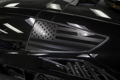 American Flag Quarter Window Decal Set (2014–2019 Corvette C7)
