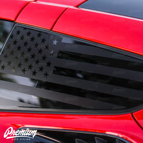 American Flag Quarter Window Decal Set (2014–2019 Corvette C7)