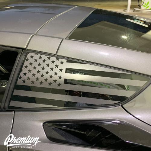 Satin Grey USA FLAG