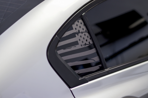 Distressed American Flag Quarter Window Decal Set (2013-2015 Civic Sedan)