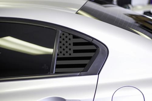 American Flag Quarter Window Decal Set (2013-2015 Civic Sedan)