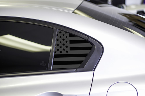 American Flag Quarter Window Decal Set (2012-2015 Civic Sedan)